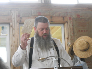 Holding Up the Matzah Bread