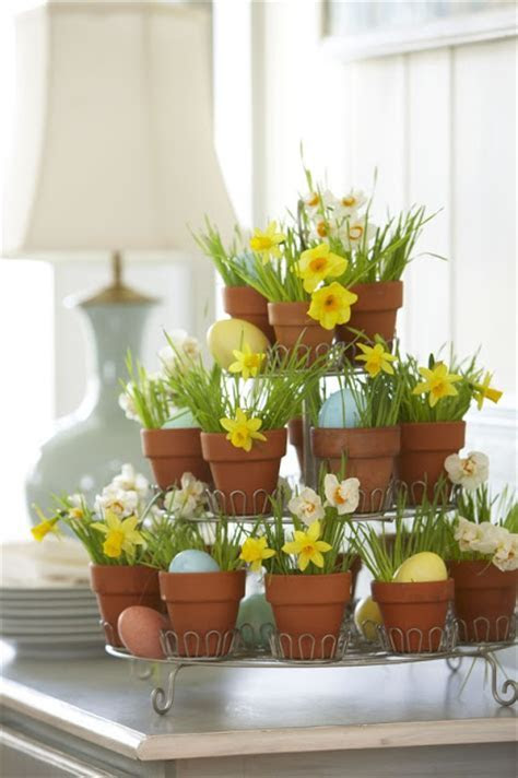 DIY :: Cupcake Stand Flower Pot {Easter Centerpiece