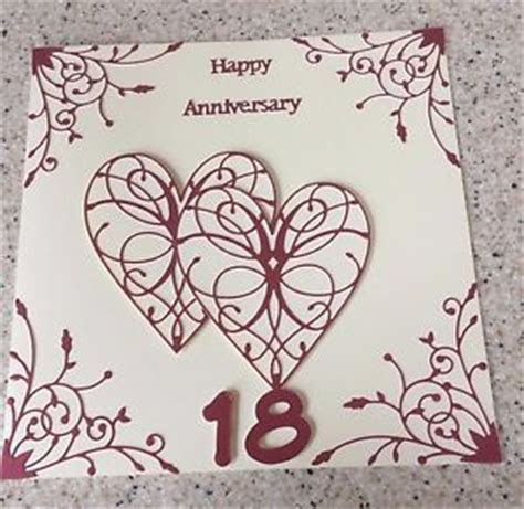 Handmade Garnet Wedding Anniversary card Happy 18th
