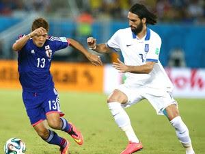 Giorgos Samaras jogo Japão x Grécia (Foto: Getty Images)