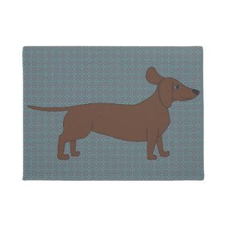 Dachshund Illustration on Doormat