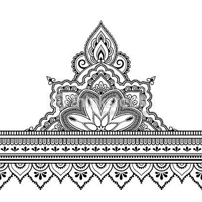 Fronteras Con Mandala Para El Diseño La Aplicación De La Henna Y