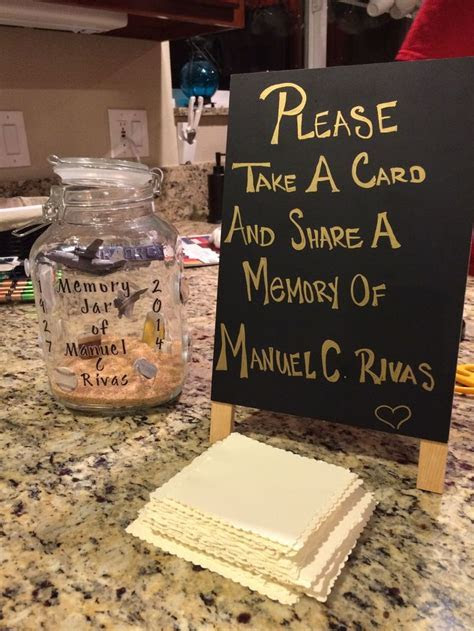 Memories jar, Canning jars and Funeral on Pinterest