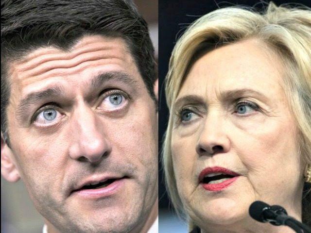 Ryan and Hillary AP Photos