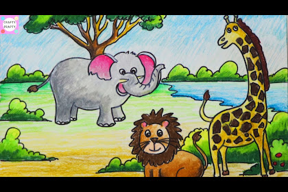 35+ Trends For Animals Jungle Scene Drawing Easy For Kids