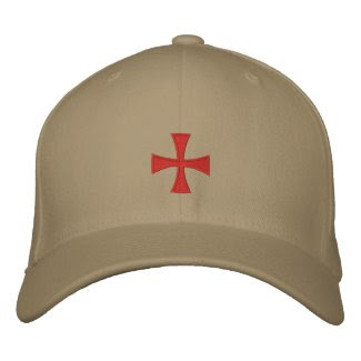 Knights Templar Embroidered Cross Hat embroideredhat