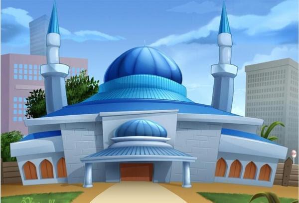 Gambar Masjid Kartun Hijau Gambar Masjid Kartun