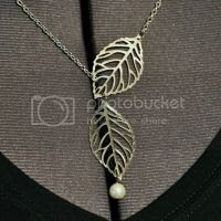 Easy Leaf Necklace @ Hickory Ridge Studio