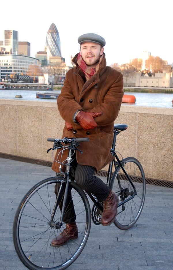 Biker and gherkin