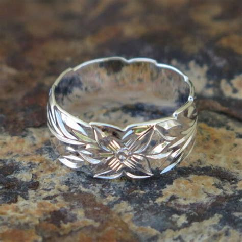 Hawaiian Jewelry Sterling Silver Maile Leaf Cut Out