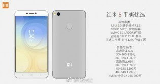 Xiaomi Redmi 5 leaked official images