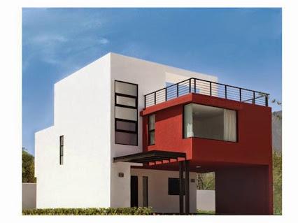 Decoraci n de interiores fachadas de casas y plantas for Pinturas exteriores colores de moda