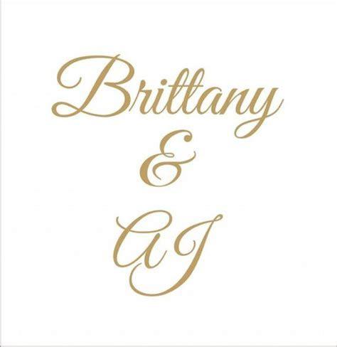 Monogram  Custom Wedding Signs STENCIL  4 Sizes  Create
