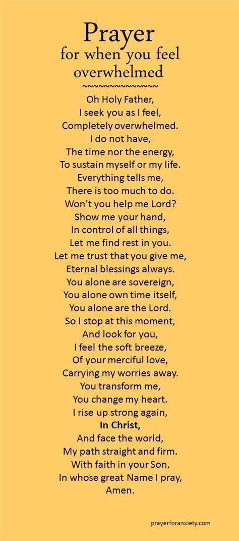 Prayer for when you feel overwhelmed   Prayer For Anxiety