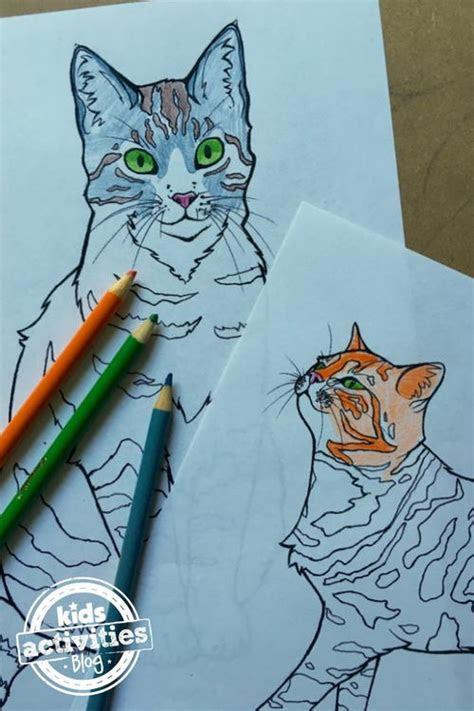 cute cat coloring page favecraftscom