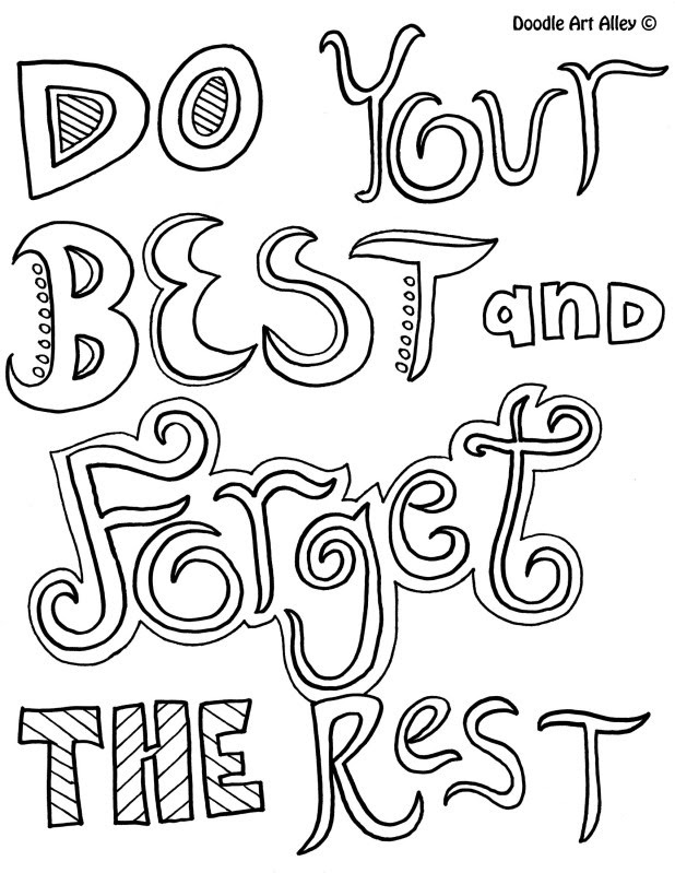 Funny Life Quotes Inspirational Quotes Coloring Pages