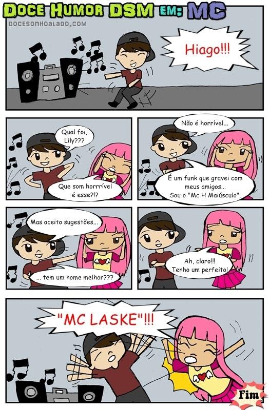 História em quadrinhos MC HQ