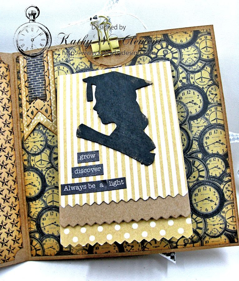 Authentique Accomplished Graduation Mini Album Tutorial by Kathy Clement for Gypsy Soul Laser Cuts 06