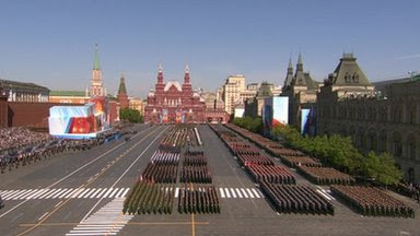 Military units take part in Red Square parade, 9 May