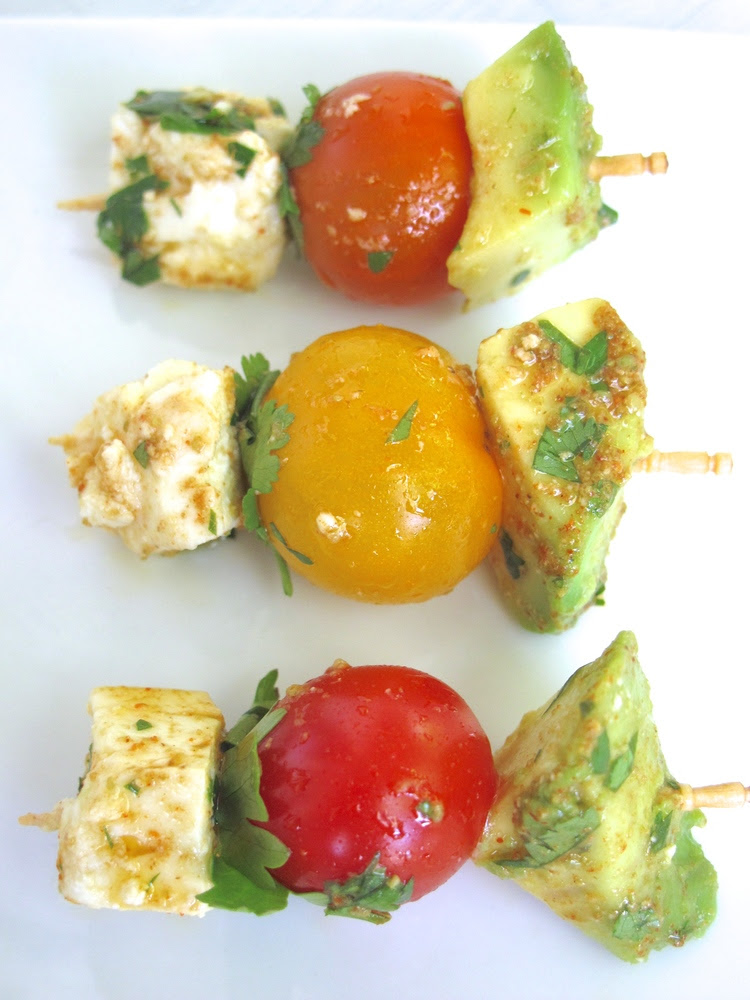 Guacamole Deconstructed & Skewered | Tasting Page
