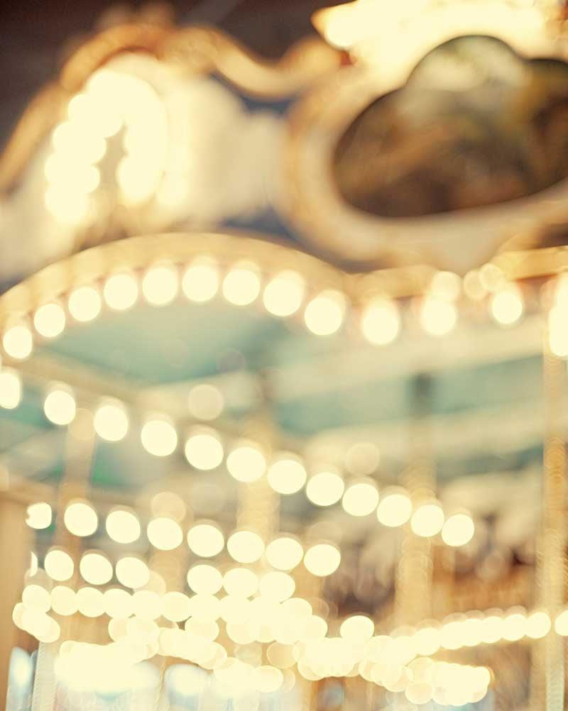 Carousel Photo Nursery Decor Shabby Chic Wall Art Fine Art Teal Photography Print - 8x10 A Sort Of Dream