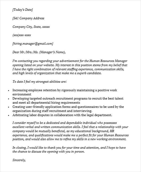14 Job Application Letters For Manager Pdf Doc Free