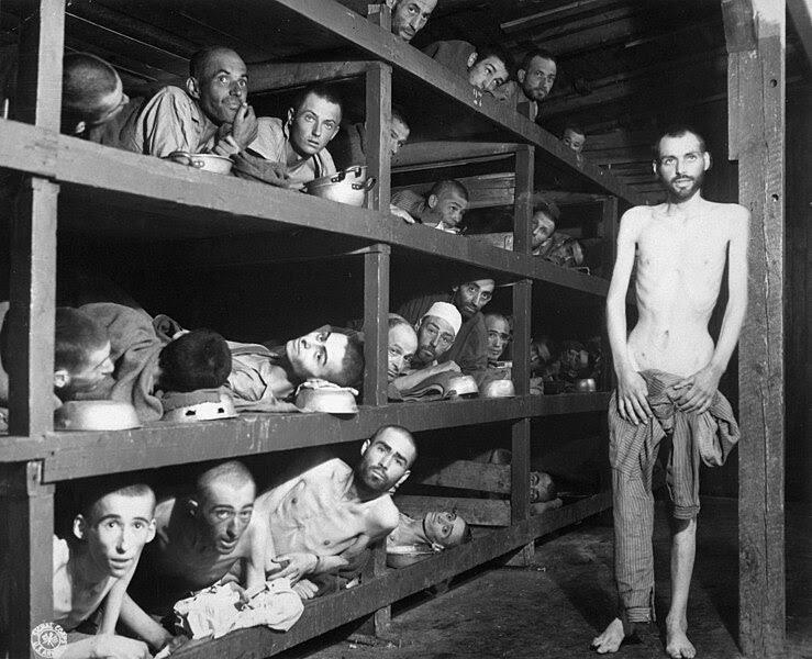 Bestand:Buchenwald Slave Laborers Liberation.jpg