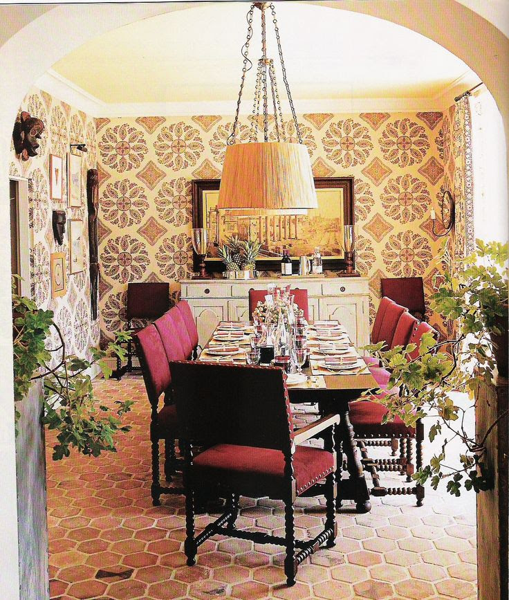 Dining room by Peter Dunham, boho, worldy, global, tile file, california style, eclectic style