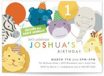 Safari Party Animals Kids Party Invitations
