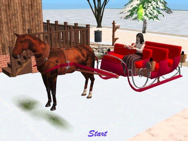 Mod The Sims One Horse Open Sleigh