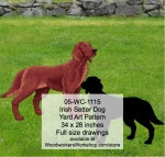 Irish Setter Dog Yard Art Woodworking Pattern - fee plans from WoodworkersWorkshop® Online Store - Irish Setter,dogs,pets,animals,yard art,painting wood crafts,scrollsawing patterns,drawings,plywood,plywoodworking plans,woodworkers projects,workshop blueprints