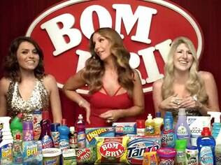Mônica (à esquerda), Ivete e Dani (à direita) dão risada no vídeo criticado por espectadores