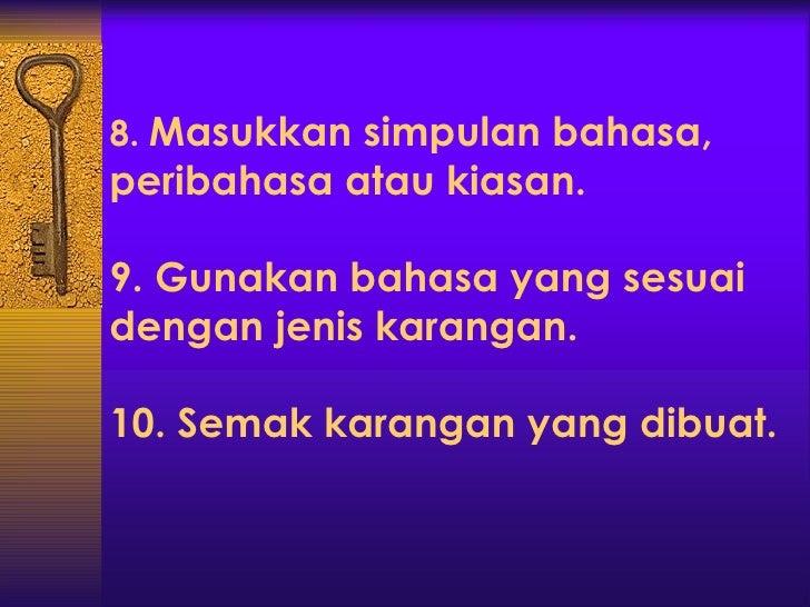 Bahasa melayu (penulisan) KEMBARA BAHASA