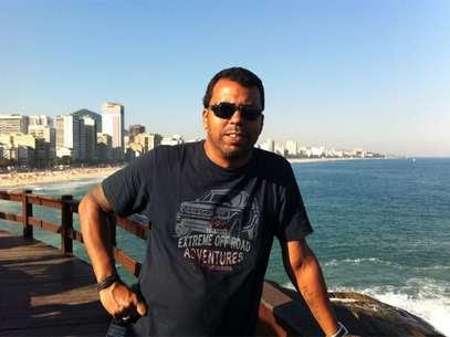 O jornalista Santiago Andrade, em fotografia de arquivo pessoal divulgada pela Rede Bandeirantes Foto: Arquivo pessoal / Rede Bandeirantes / Reprodução