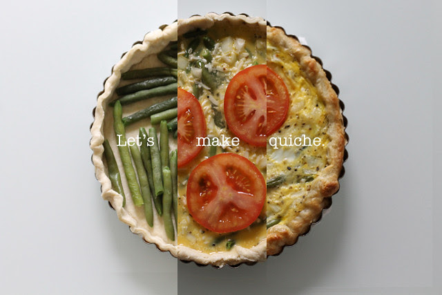 Green bean, asiago, and tomato quiche recipe