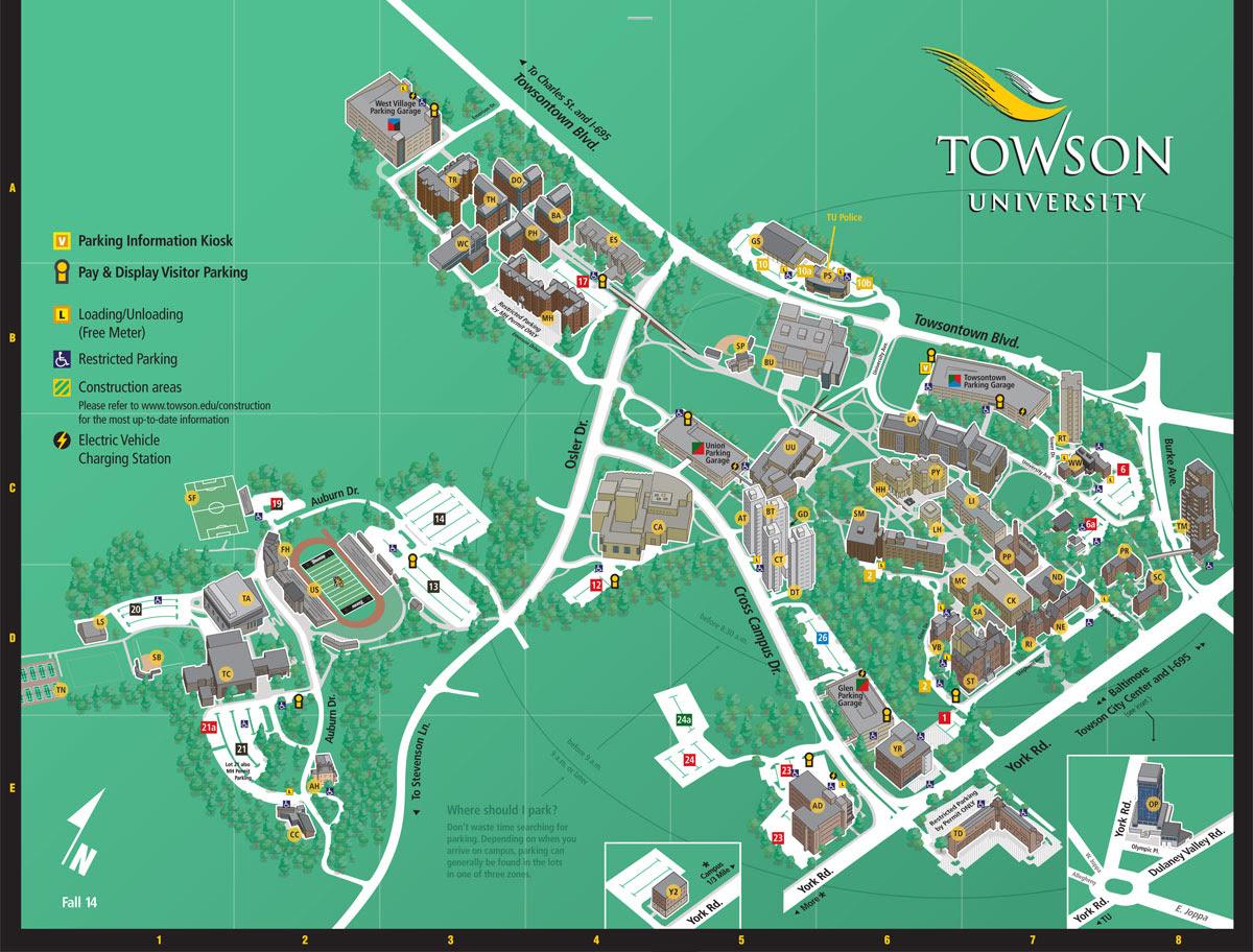 Towson University Map - CYNDIIMENNA