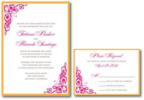 fuchsia wedding invitation ? A Vibrant Wedding