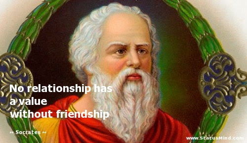 Image result for socrates on friendship