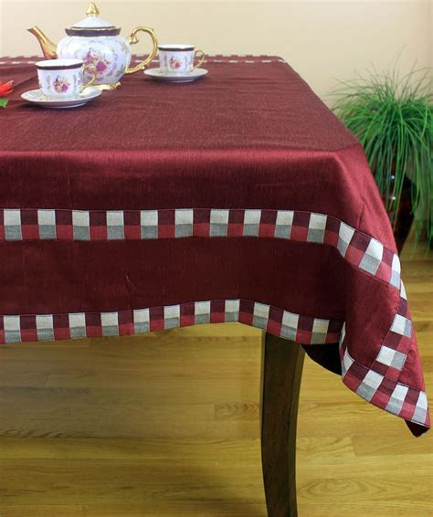 "Modern Squares Rectangular Tablecloth, 52"" x 70""   Banarsi"