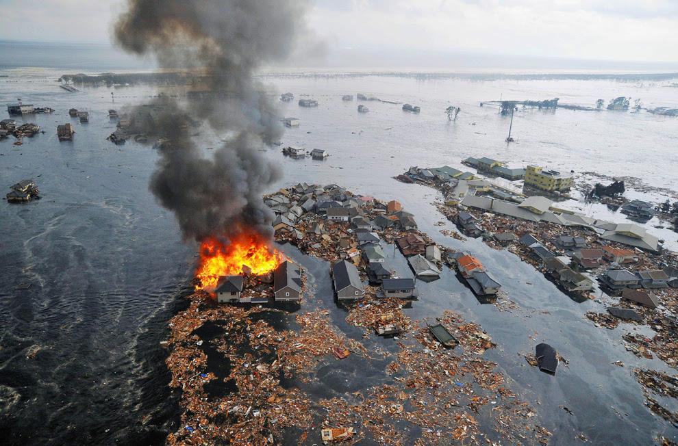 Gambar gempa dan Tsunami dijepun