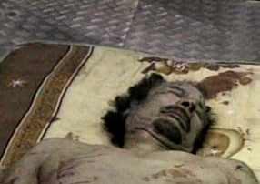 cadaver muamar qadafi