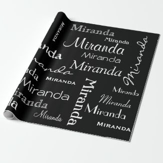 Personalized Name or Message Pattern Gift wrap