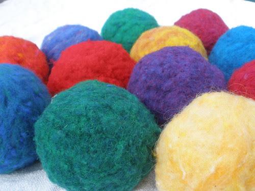 Felt Balls in Lots of Colors