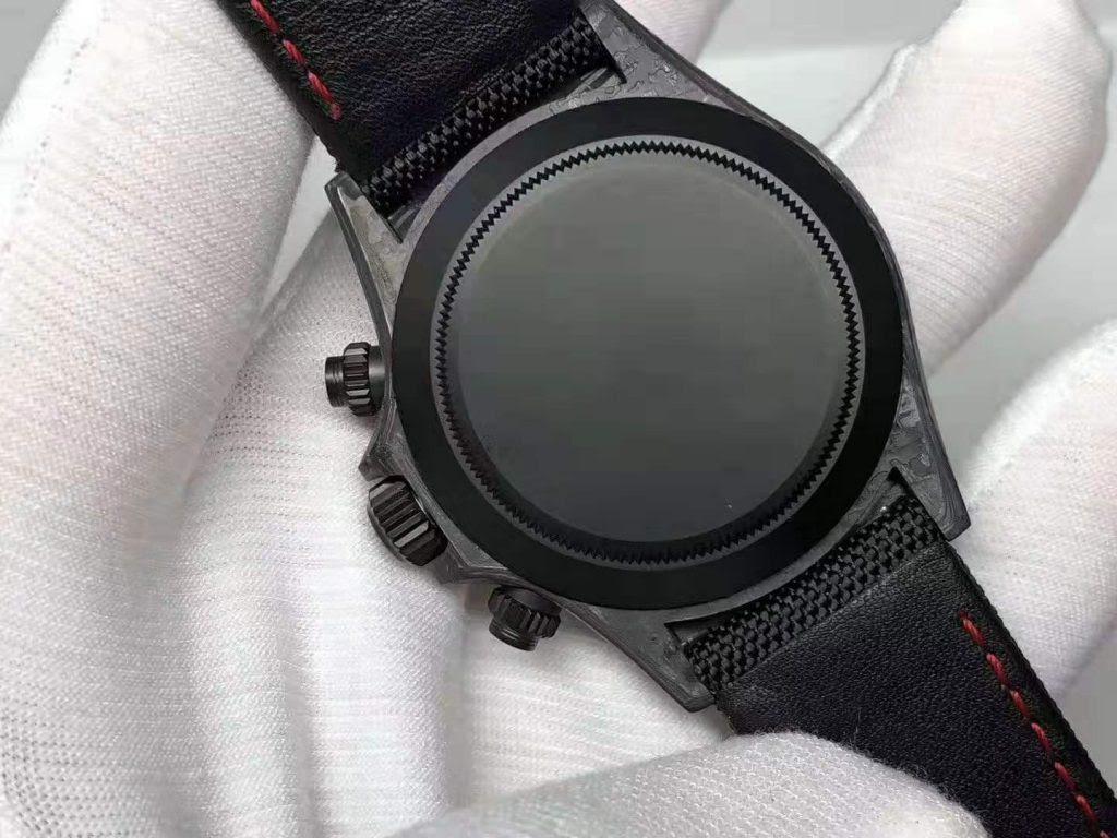Replica Rolex Carbon Daytona Solid Back