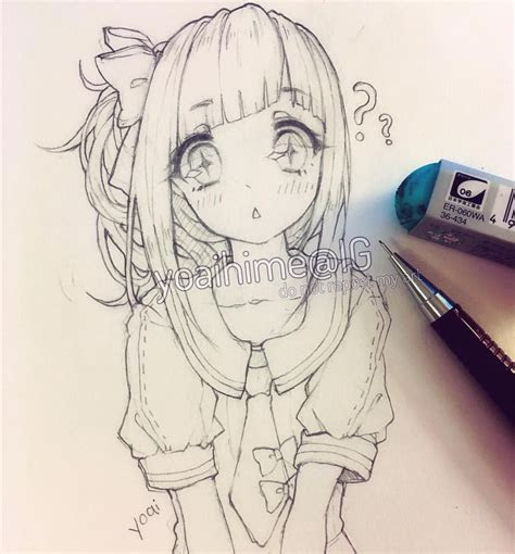 pin  hunnie nguyen  anime anime drawings sketches