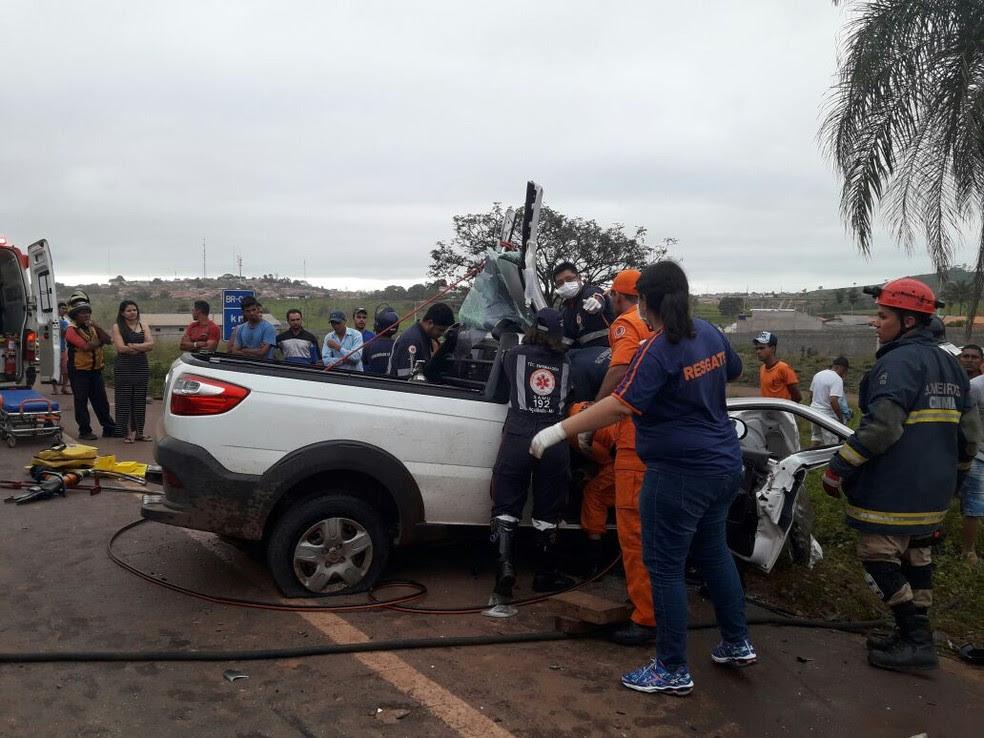 Duas pessoas morreram em acidente na cidade de Açailândia (Foto: Divulgação / PRF)