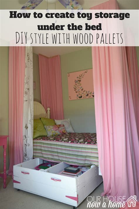 diy wood pallet  bed toy storage  house   home