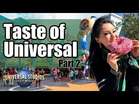 Taste of Universal at Universal Studios Hollywood - Opening Weekend PART 2 (Simpsons Land & More!)