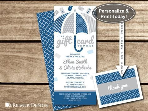 Gift Card Shower Invitation, Baby Shower Invitation
