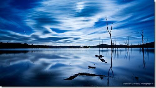 Moon over Moogerah por Matthew Stewart | Photographer
